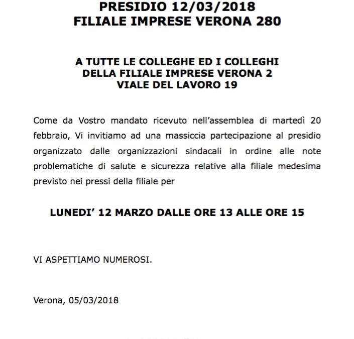 PRESIDIO 12/03/2018 – FIL. IMPRESE VERONA 2 CRVENETO